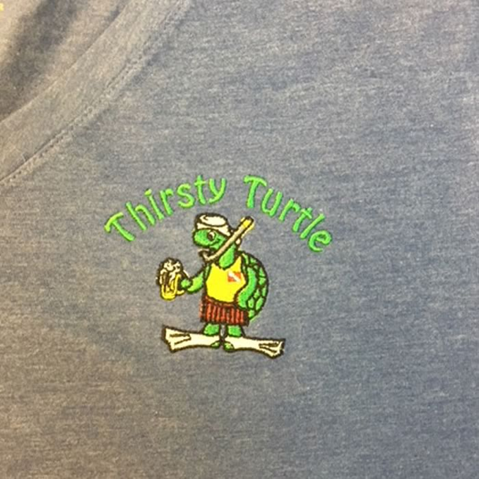 Embroidery Thirsty Turtle